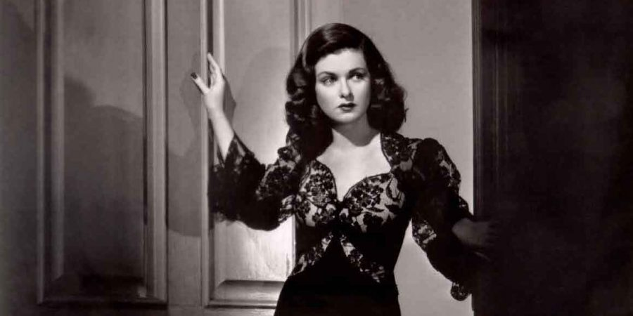 "B&W photo of Joan Bennett in ""Woman in the Window"""